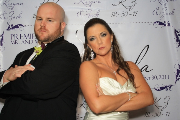 Mr. And Mrs. Zack La Monda wedding photo booth